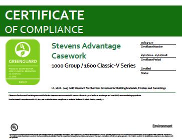 Stevens Advantage Casework 1000 Group / 1600 Classic-V Series
