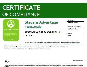 Stevens Advantage Casework 2000 Group / 2600 Designer-V Series