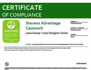 Stevens Advantage Casework 2000 Group / 2700 Designer Series