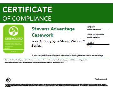 Stevens Advantage Casework 2000 Group / 2701 StevensWood Series