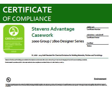 Stevens Advantage Casework 2000 Group / 2800 Designer Series