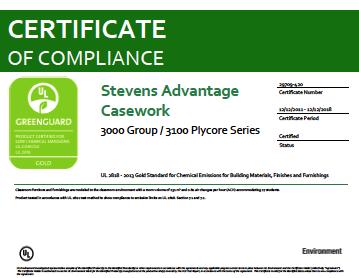 Stevens Advantage Casework 3000 Group / 3100 Plycore Series