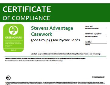 Stevens Advantage Casework 3000 Group / 3200 Plycore Series
