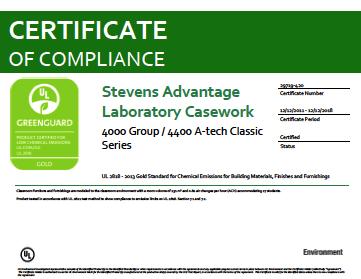 Stevens Advantage Laboratory Casework 4000 Group / 4400 A-tech Classic Series