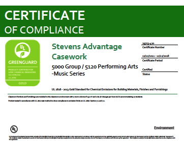 Stevens Advantage Casework 5000 Group / 5120 Performing Arts - Music Series