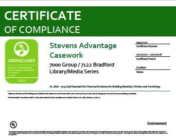 Stevens Advantage Casework 7000 Group / 7122 Bradford Library / Media Series